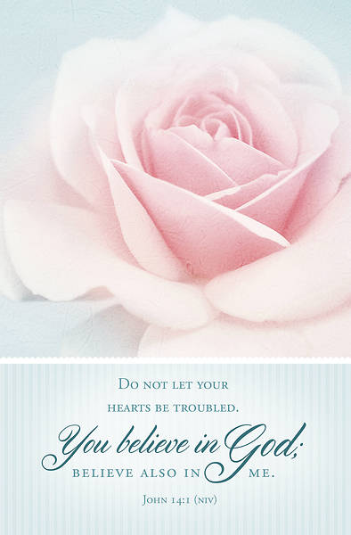 Do Not Let Your Hearts Be Troubled Funeral Regular Size Bulletin