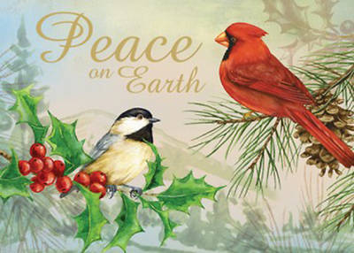 Peace on Earth Cardinal Christmas Boxed Cards Pack of 12