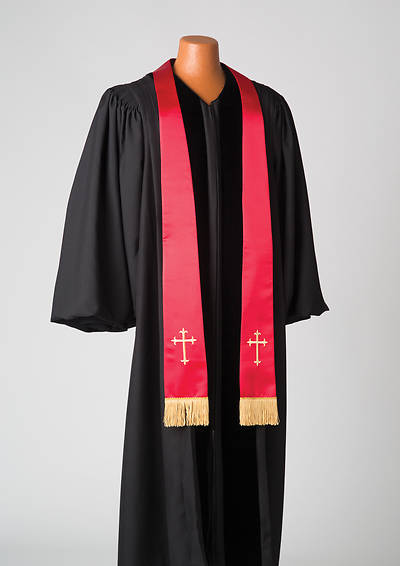 Picture of Satin Red Latin Cross Stole