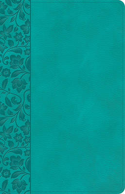 Picture of NASB Large Print Personal Size Reference Bible, Teal Leathertouch