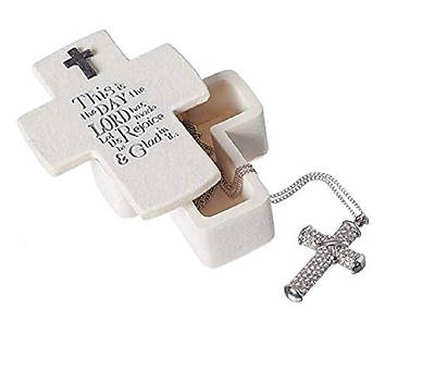 This is The Day Cross Shaped Keepsake Box