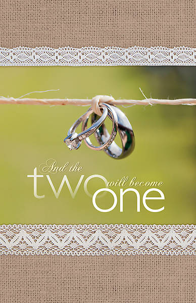 Picture of Rustic Rings on Twine Wedding Bulletin (Pkg of 100)