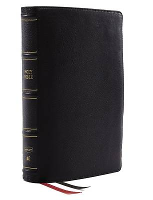 Picture of Nkjv, Thinline Reference Bible, Genuine Leather, Black, Red Letter, Comfort Print
