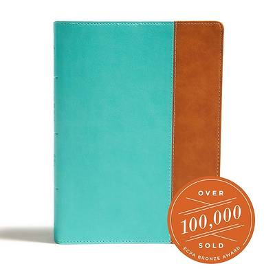 Picture of CSB Tony Evans Study Bible, Teal/Earth Leathertouch, Indexed