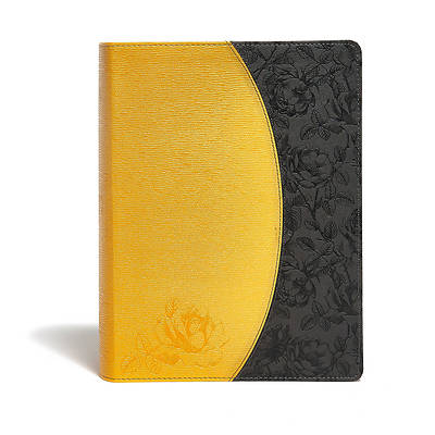 KJV Study Bible, Canary/Slate Grey, Leathertouch