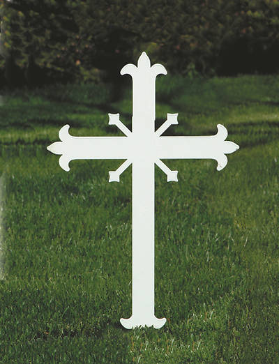 Picture of Koleys K4057 Fleur-De-Lis Outdoor Memorial Cross