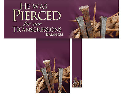 Picture of He Was Pierced Lent 3 Piece Altar Set