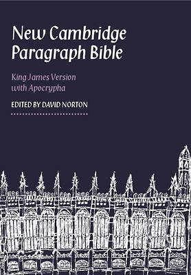 New Cambridge Paragraph Bible with Apocrypha Personal Size Black Calfskin Kj595