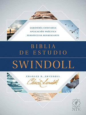 Picture of Biblia de Estudio Swindoll Ntv (Sentipiel, Café/Azul/Turquesa, Índice)