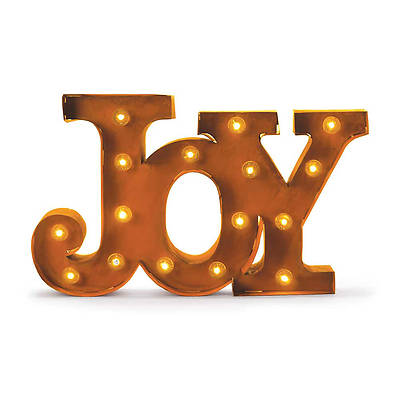 Metal Sign - Joy LED Lights 8