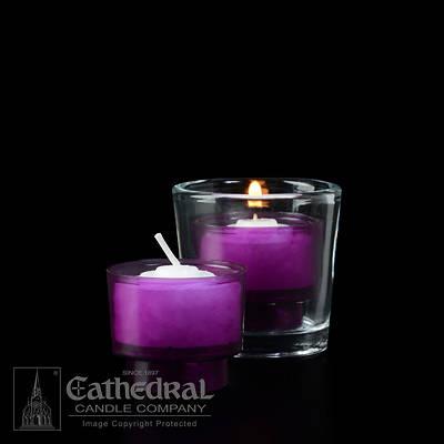 Picture of Cathedral EZ Lites 4 Hour Votive Lights - Purple