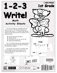 Math Activity Sheets Grd 1 2nd Edition (1 2 3 Write)