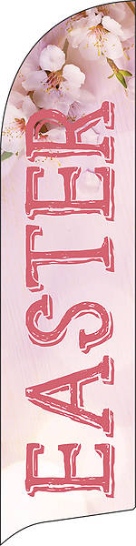 Picture of Easter Pink Cherry Blossom Flag Banner