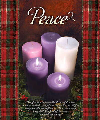 Advent Week 2/Peace Bulletin, Large  (Package of 100)