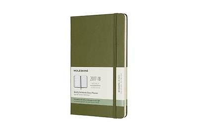 Moleskine 18 Month Weekly Planner, Large, ELM Green, Hard Cover (5 X 8.25)