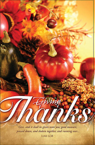 Giving Thanks  Thanksgiving Bulletin