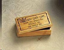 May Gods Love Confirmation Keepsake Box