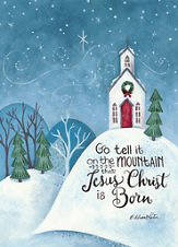 Christmas Boxed Card- Go Tell It On The Mountain (Box Of 16)