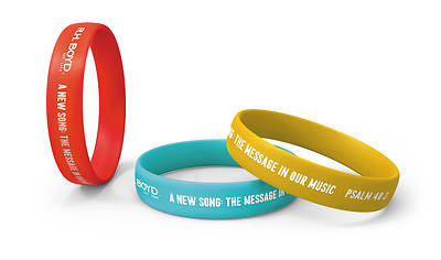 Picture of Vacation Bible School VBS 2021 A New Song The Message in Our Music Arm Bands PK6