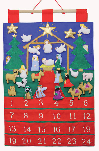 Tidings of Joy Fabric Advent Calendar With Puffy Pieces