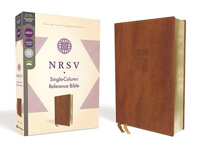 Picture of NRSV Single-Column Reference Bible, Leathersoft, Brown, Comfort Print