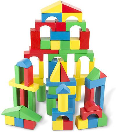 Picture of Melissa & Doug Wooden Building Blocks Set - 100 Blocks