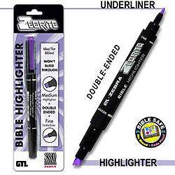 Zebrite Double Ended Highlighter - Violet
