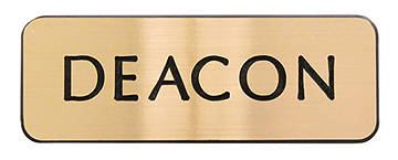 Picture of Contemporary Engraved Gold Deacon Pin