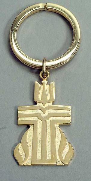 Picture of Presbyterian Seal Key Ring Gold
