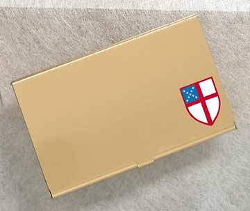 Card Case with Shield Episcopal
