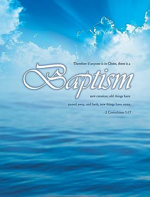 Certificate of Baptism 2 Corinthians 5:17 Package of 6