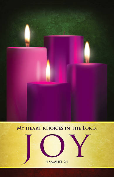 joy advent candles sunday 3 bulletin pkg of 50 cokesbury. Black Bedroom Furniture Sets. Home Design Ideas