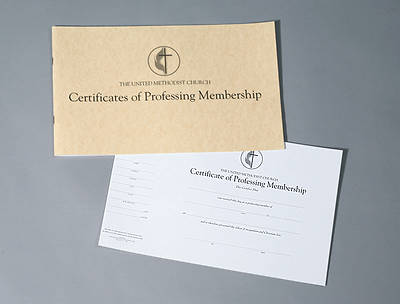 Picture of The United Methodist Church Certificates of Professing Membership (Pad of 26)
