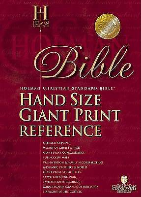 Picture of Hand Size Giant Print Reference Bible-Hcsb