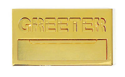 Picture of Brass Greeter Badge with Cut Out Lettering