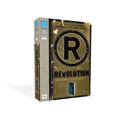 NIV Revolution Bible Italian Duo-Tone Mediterranean Blue/Charcoal