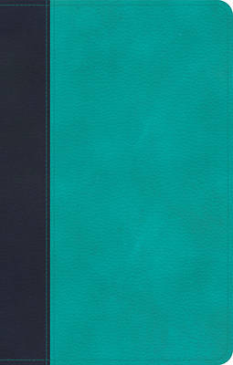 Picture of CSB Personal Size Bible, Navy/Teal Leathertouch