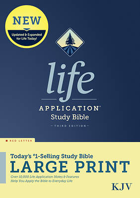 Picture of KJV Life Application Study Bible, Third Edition, Large Print (Red Letter, Hardcover)