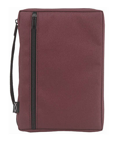 Burgundy Canvas Bible Cover Large