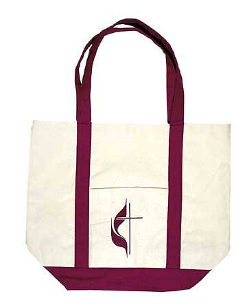 Tote Bag United Methodist Cross and Flame