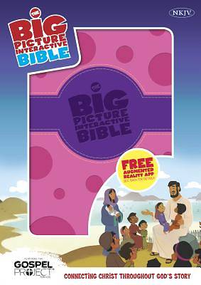 The NKJV Big Picture Interactive Bible, Purple/Pink Polka Dot Leathertouch