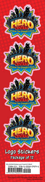 VBS Hero Central Logo Stickers (Pkg of 24)