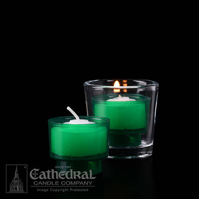 Cathedral EZ Lites 4 Hour Votive Lights - Green
