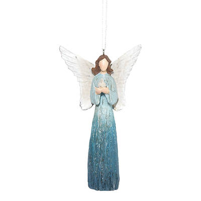 Picture of Angel Blue with Bird Ornament