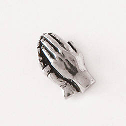 Pewter Lapel Pin - Praying Hands