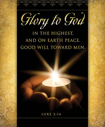 Glory to God Christmas Bulletin Large (Package of 100)