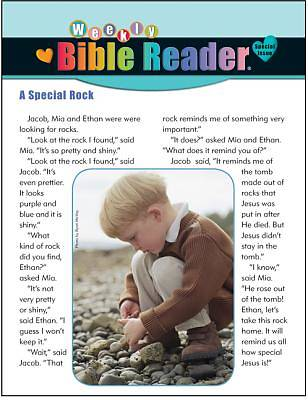 Standards Heartshaper Early Elementary Weekly Bible Reader Take Home Pages Spring 2013 (Package of 5)