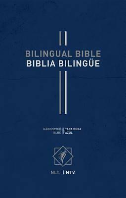 Picture of Bilingual Bible / Biblia Bilingüe Nlt/Ntv (Hardcover, Blue)
