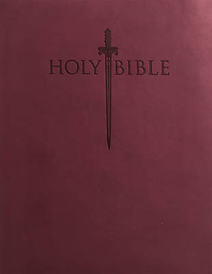 Picture of King James Version Easy Read Sword Value Thinline Bible Personal Size Burgundy Ultrasoft