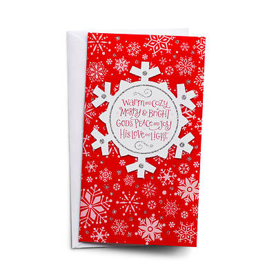 Picture of Warm and Cozy Snowflake Little Inspirations Cards Pkg of 16